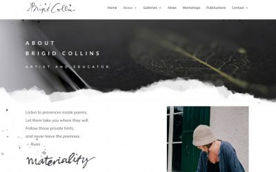 Brigid Collins Artist Site Goes Live